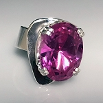 Pink Topaz Modernist Ring